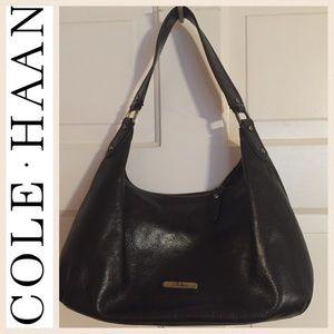 Cole-Haan Black Leather Hobo Bag